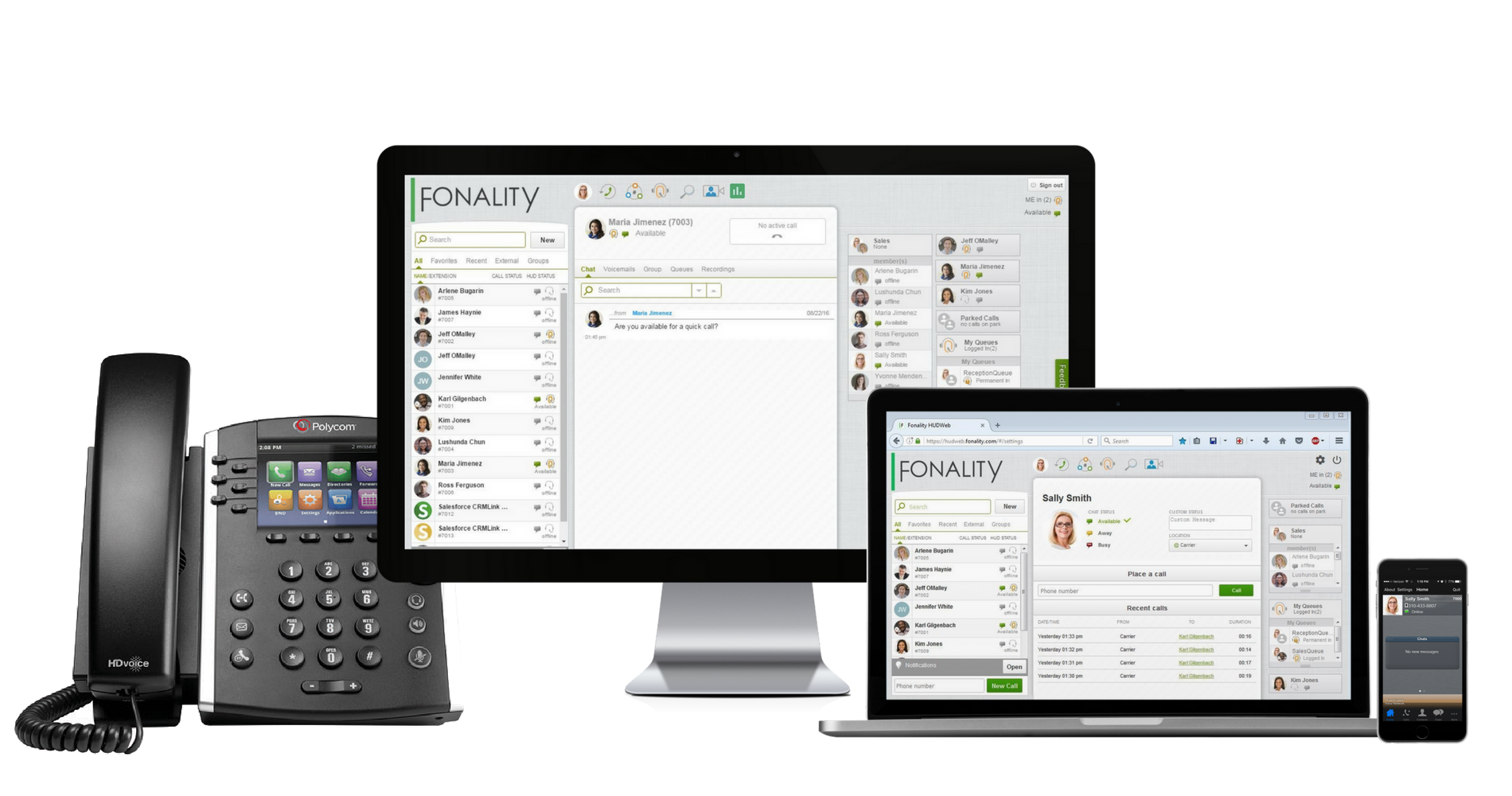 Unified Communications from Fonality - Heads Up Display